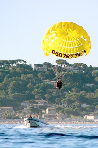 parachute ascensionnel sainte maxime